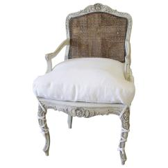 French Cane Back Dining Chairs Navy Club Chair Painted 19th Century At 1stdibs