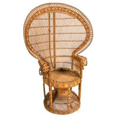 Rattan Wingback Chairs Footrests For Wheelchairs Peacock Chair At 1stdibs