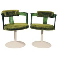 Green Lucite Mod Tulip Chairs by Daystrom, circa 1970 ...