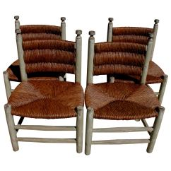 Rush Seat Chairs Holiday Chair Covers Dining Rooms Set Of Four 20th Century For Sale At 1stdibs