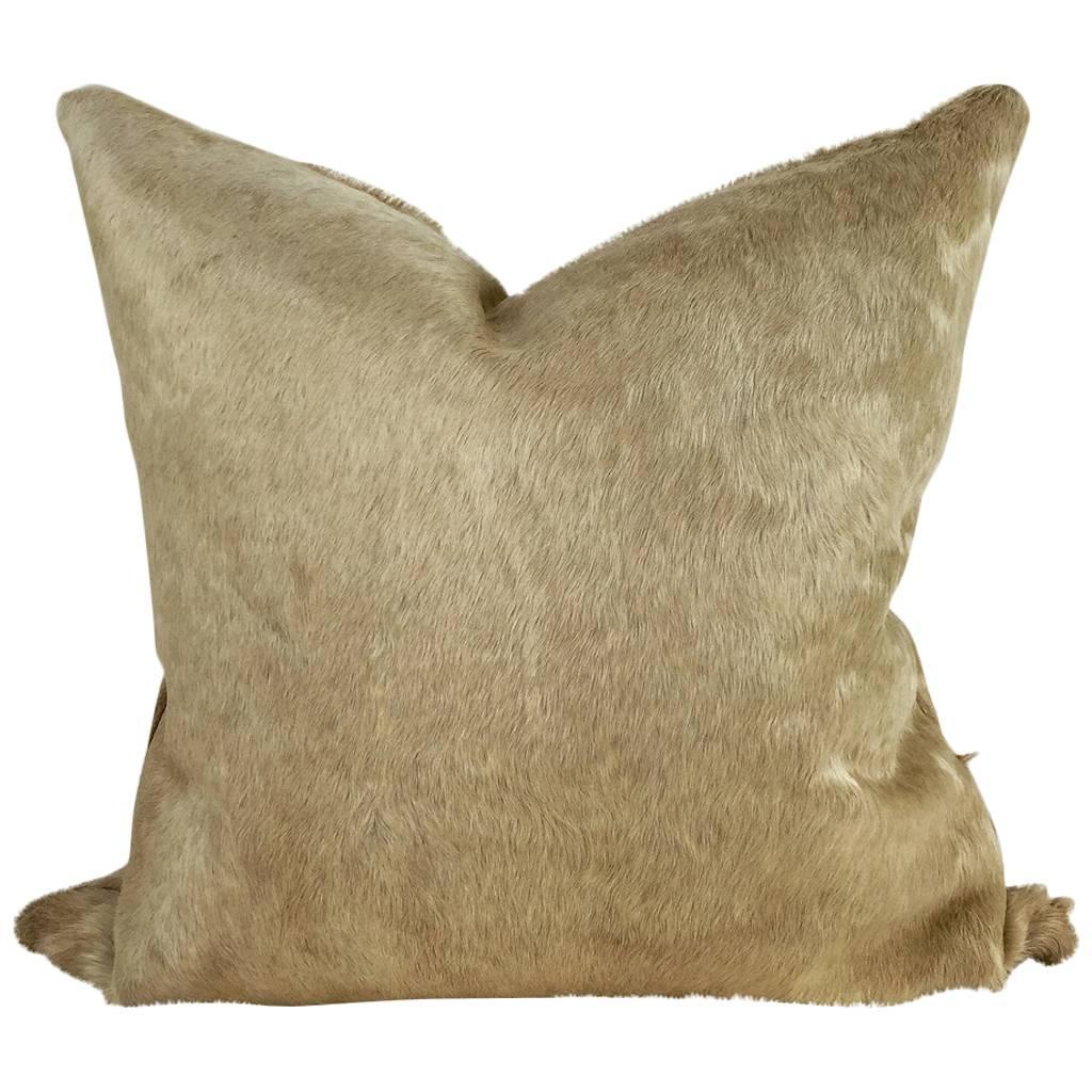 cowhide sofa throws falabella argentina cama double sided champagne pillow at 1stdibs