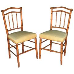 Bamboo Chairs For Sale Big Comfy Chair Pair Of Faux At 1stdibs