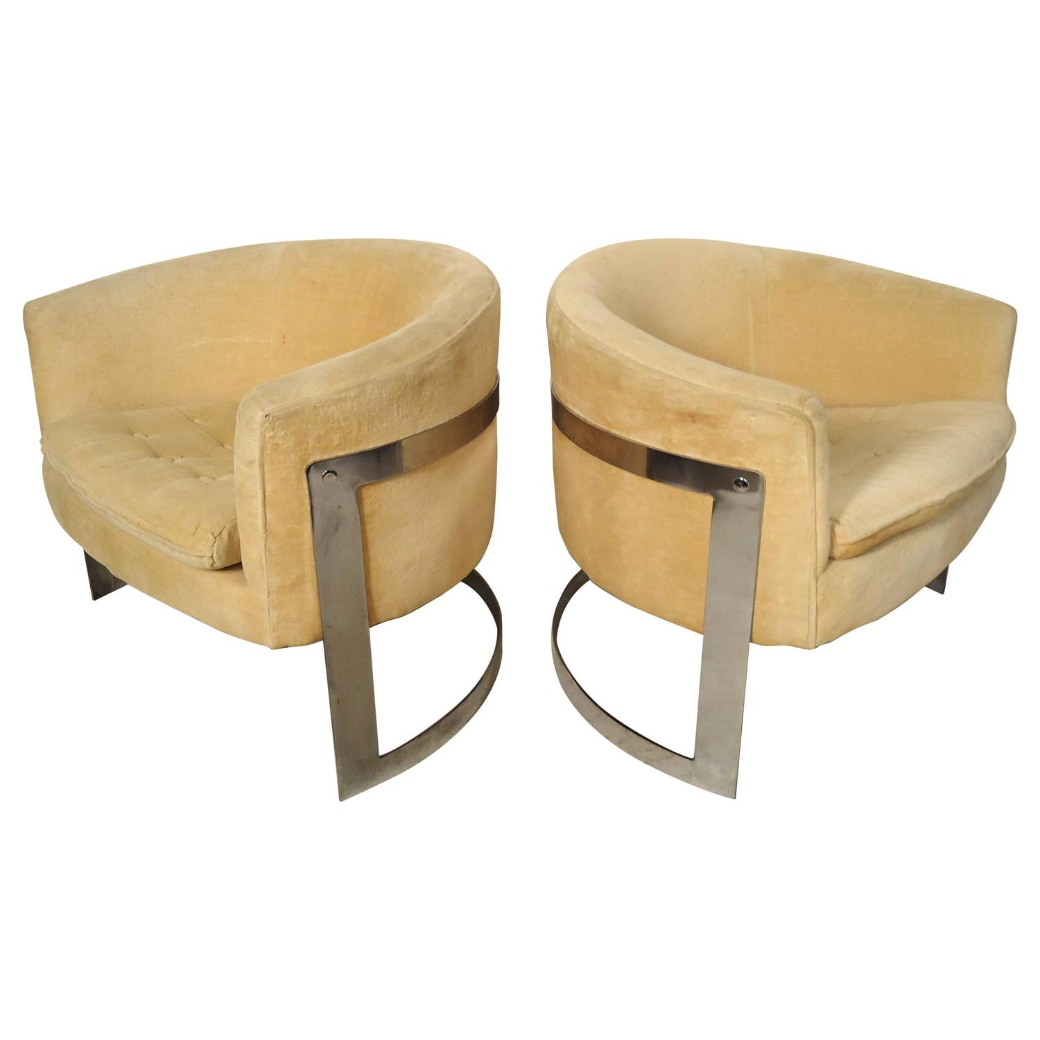 circular chairs for sale lift seat chair jules heumann round back club at 1stdibs