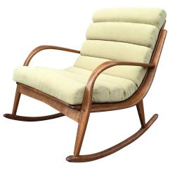 Modern Bentwood Chairs Burke 115 Chair Extremely Rare Danish Upholstered Rocking