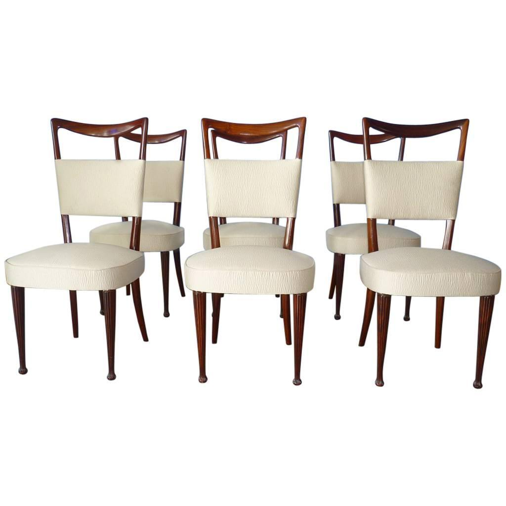 6 Dining Room Chairs Rare Set Of 6 Dining Room Chairs By Osvaldo Borsani Italy