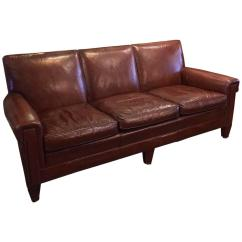 Sikes Chair Company Santa Covers Dollar Tree 1940s Stately Leather Club Sofa By The Furniture Co