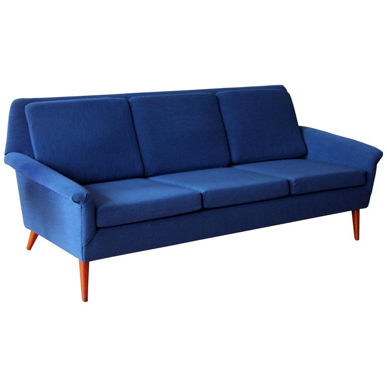 dux sofa by folke ohlsson baby pink uk mid-century modern three seat at ...