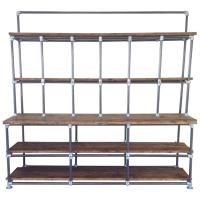 Vintage Industrial Pipe and Plank Shelving Shabby Chic at ...