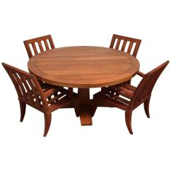 Teak Table And Chairs Garden Bucket Seat Chair Outdoor Dining Set Sturdy At 1stdibs
