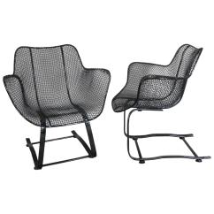 Iron Rocking Chair Herman Miller Eames Office Pair Of Russell Woodard Wrought Springer