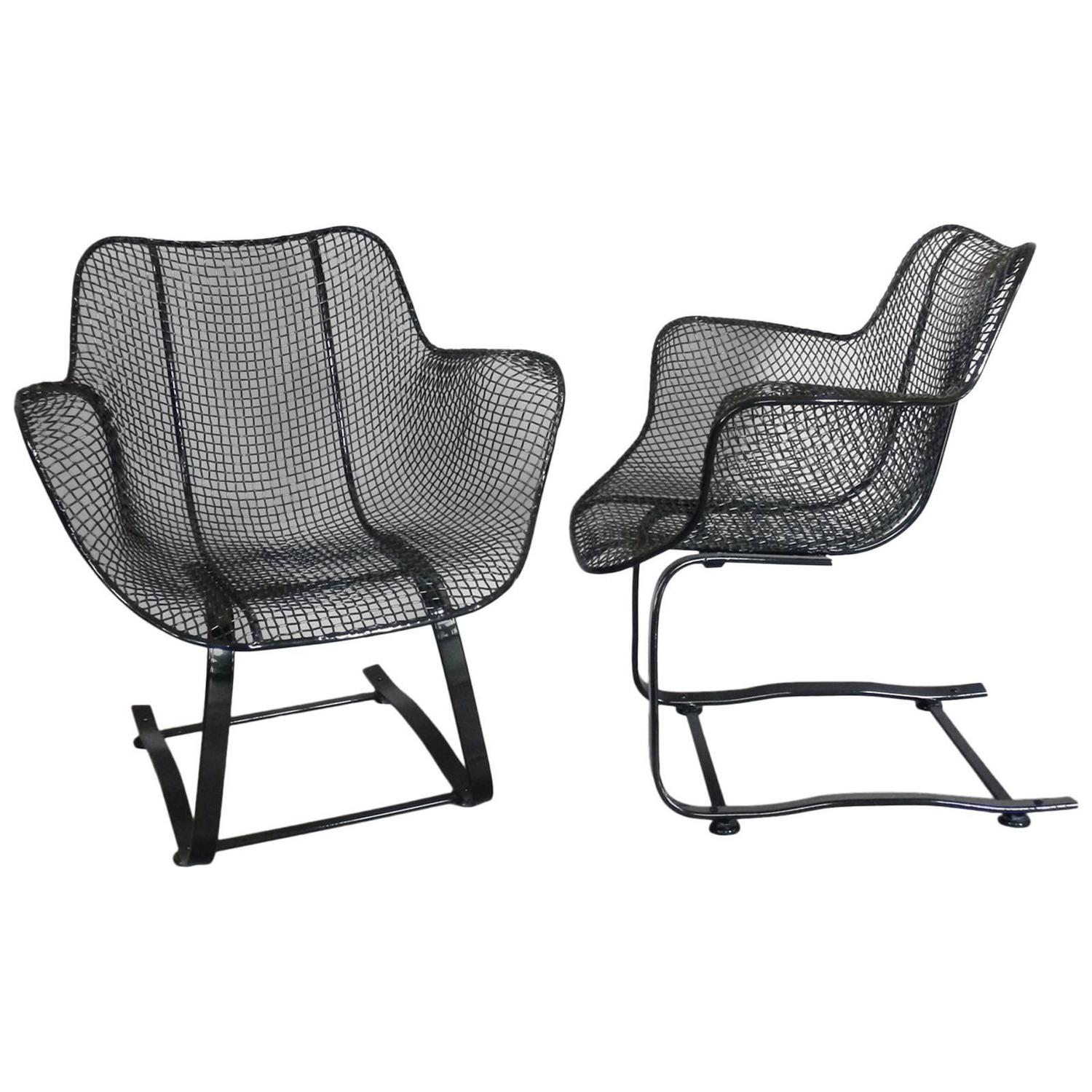 wrought iron rocking chair accent chairs at homesense pair of russell woodard springer