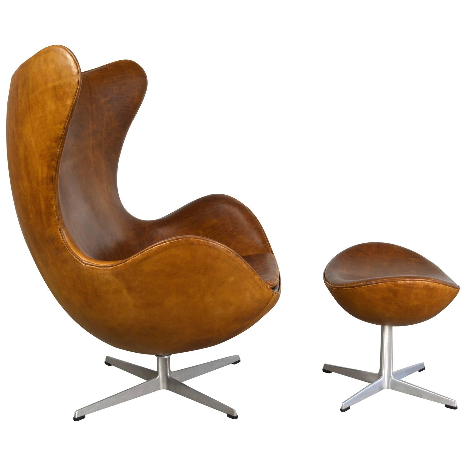 Chair Egg Arne Jacobsen Egg Chair And Ottoman At 1stdibs