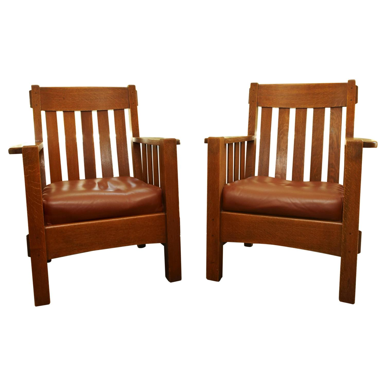 mission chairs for sale cheap wholesale chair covers pair harden arts and crafts armchairs circa 1907