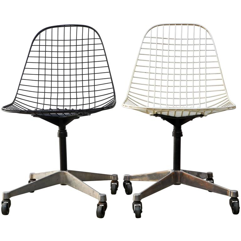 scoop back upholstered dining chairs lycra chair covers for hire eames pkc wire rolling task herman miller at 1stdibs