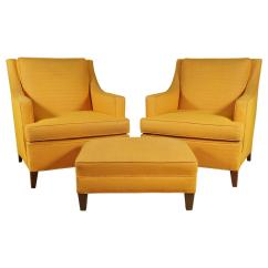 Yellow Chairs For Sale Fire Pit Table And Costco Pair Of Larson Armchairs Ottoman In Bright
