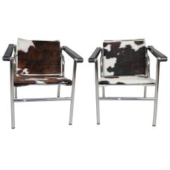 Cowhide Chairs Modern Best Wooden High Chair Le Corbusier Style Lc1 Sling In By Design