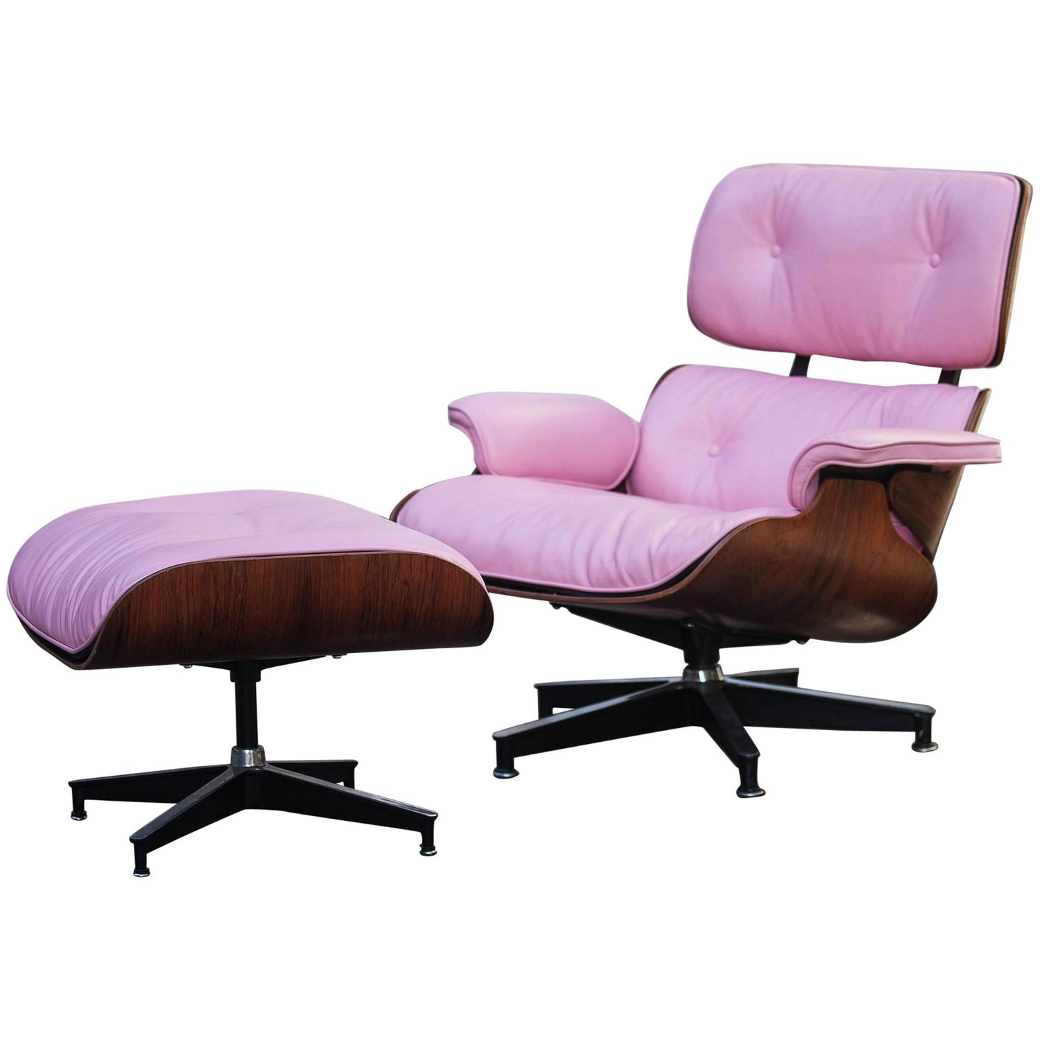 pink club chair swivel hunting with gun rest beautiful charles eames lounge for herman