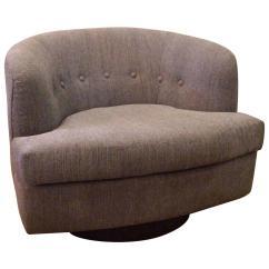 Low Profile Chairs Ergonomic Chair Measurements Plush Barrel Shape Swivel Club For Sale
