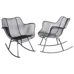 Iron Rocking Chair Wicker Dining Chairs Indoor Uk Pair Of Woodard Wrought At 1stdibs