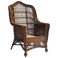 Heywood Wakefield Wicker Chairs Office Chair That Reclines Antique Armchair For Sale At 1stdibs