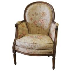 French Bergere Chair World Market Office Antique Country Louis Xvi In Linen
