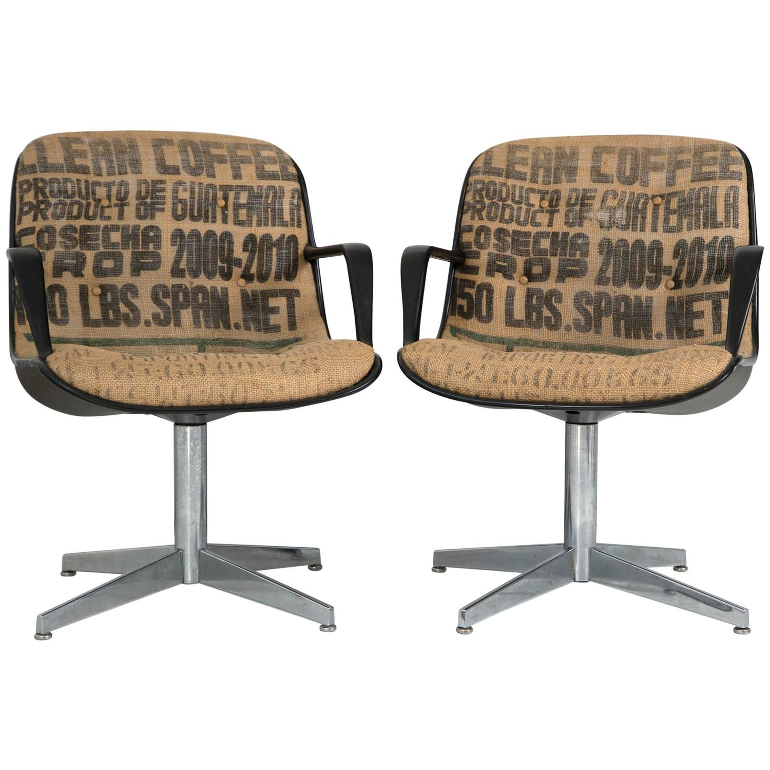 burlap chair covers for sale sashes australia steelcase side chairs in pair at 1stdibs