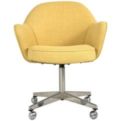 Yellow Office Chair Cheap Outdoor Table And Chairs Knoll Desk In Microfiber For Sale At 1stdibs