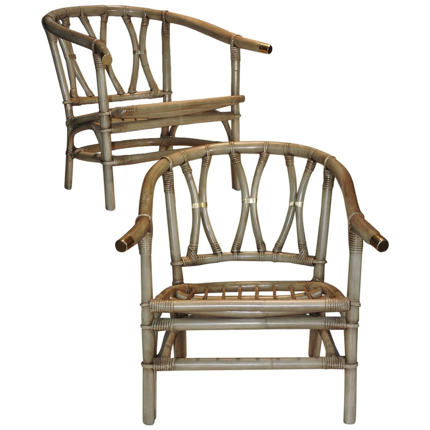 ficks reed chair dining covers gray bamboo and brass lounge chairs at 1stdibs