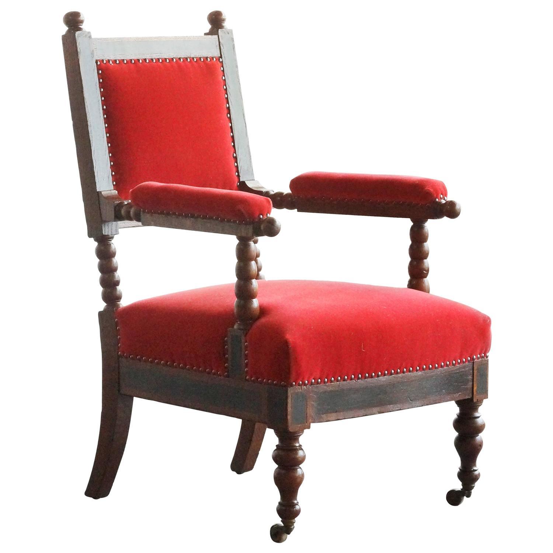 barley twist chair restoration hardware airplane antique armchair circa 1875 at 1stdibs