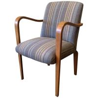 Upholstered Bentwood Maple Armchair by Thonet For Sale at ...