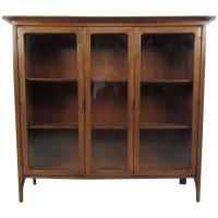 Mid-Century Walnut Display Cabinet at 1stdibs