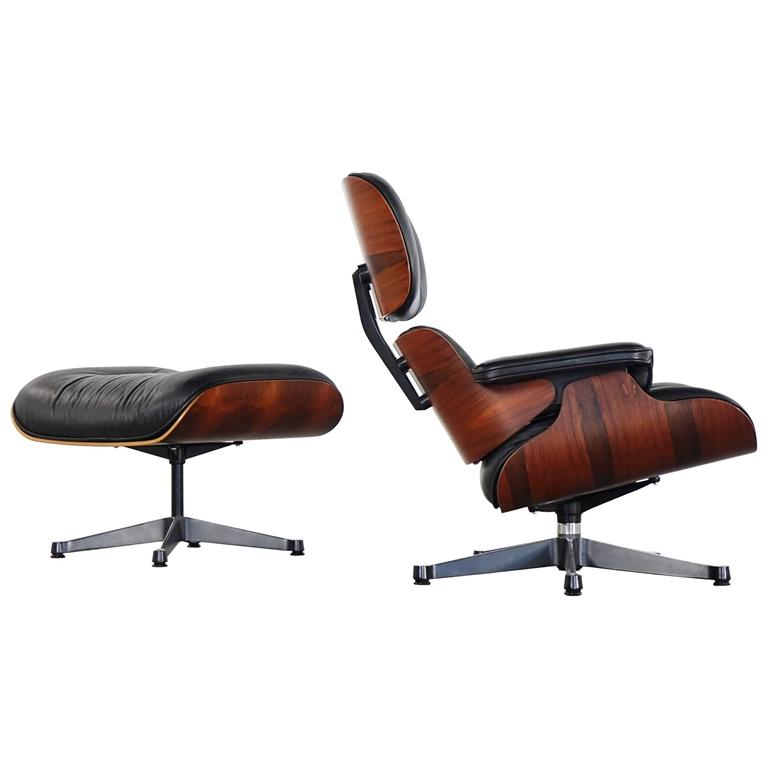 charles eames lounge chair eddie bauer high tray vitra and ottoman in rio rosewood herman miller for sale