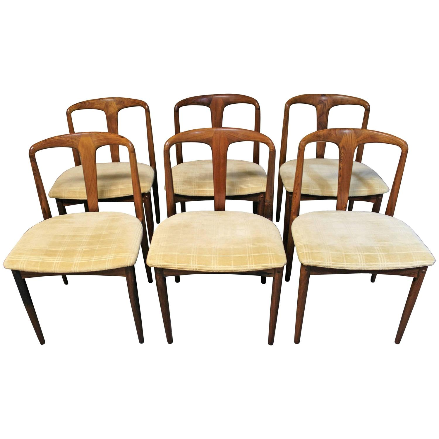 Due North Chairs Six Johannes Andersen Rosewood Quotjuliane Quot Dining Chairs For