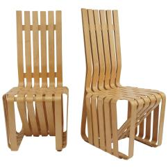 Frank Gehry Chair Hanging Name Pair Of High Sticking Chairs At 1stdibs