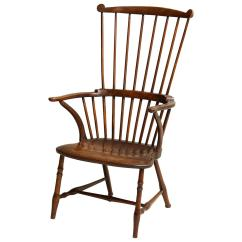 Comb Back Windsor Chair Dinner Covers 18th Century Fruitwood Armchair For Sale
