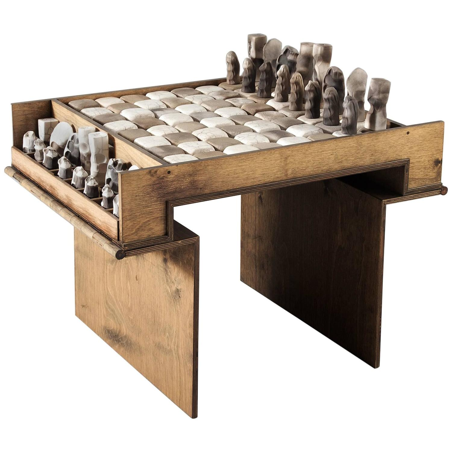 chess table and chairs poker with casters exceptional ceramic set for sale at 1stdibs