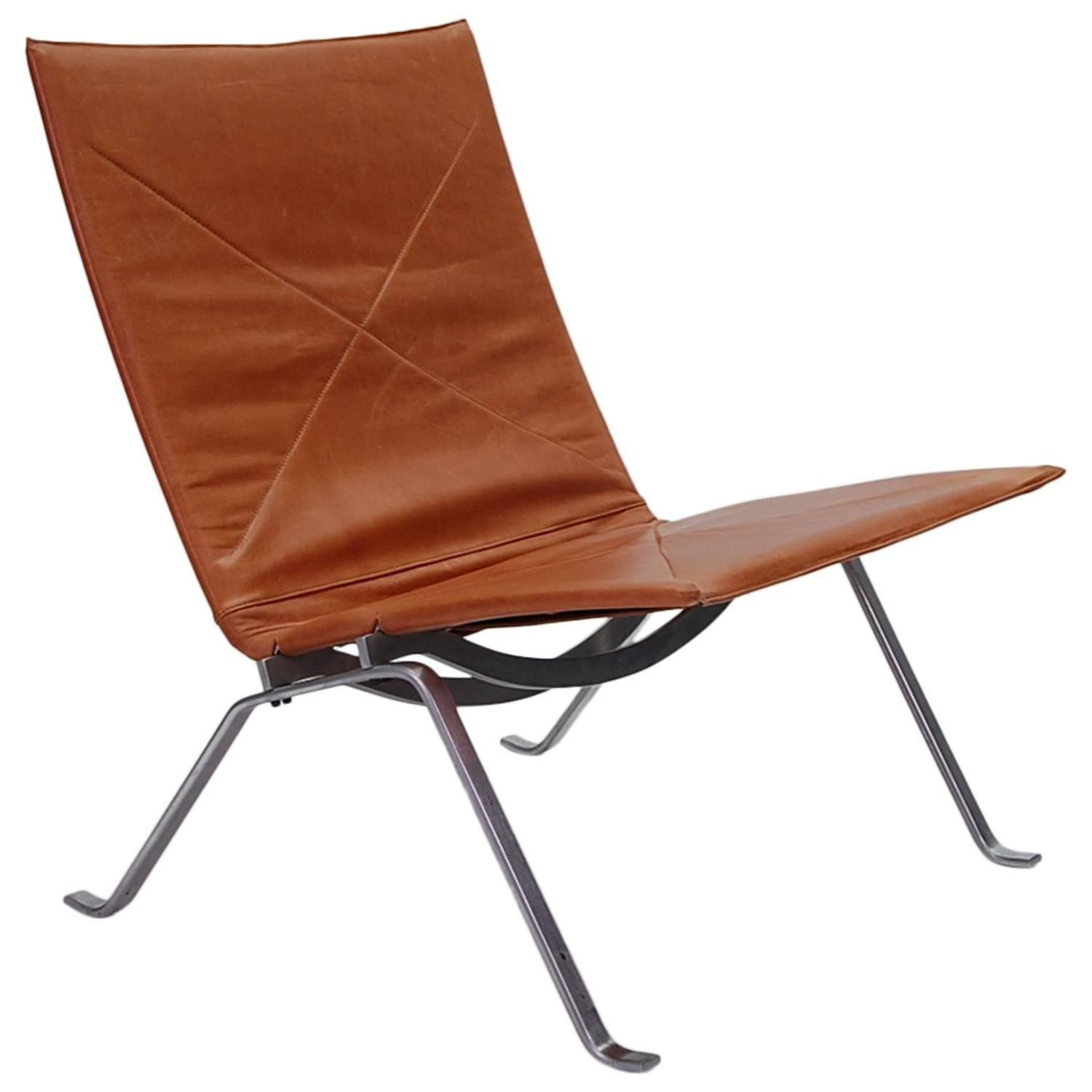 Pk22 Chair Early Poul Kjaerholm Pk22 Lounge Chair For Sale At 1stdibs