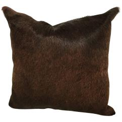 Cowhide Sofa Throws Scs Leather Sofas And Chairs Dark Brown Pillow For Sale At 1stdibs