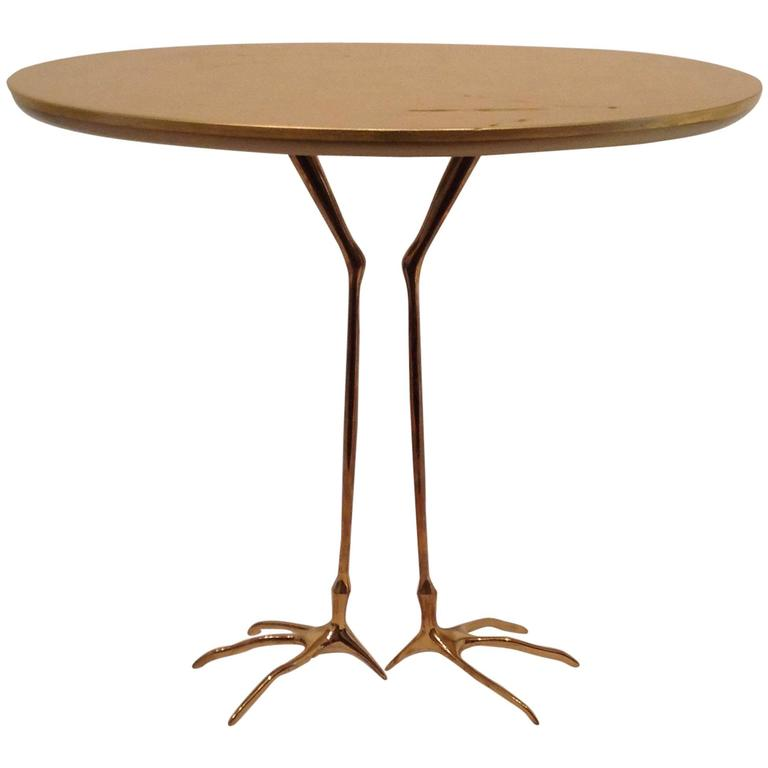 Traccia Table, 1939-1978 by Meret Oppenheim small table with bird feet