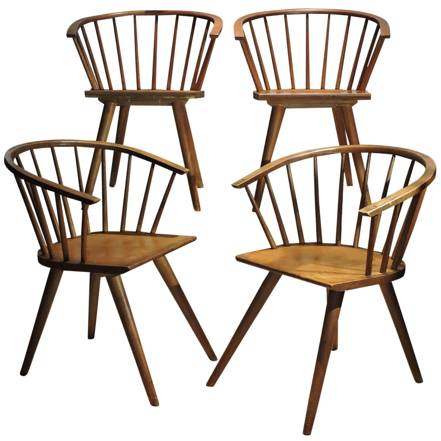 Windsor Style Chairs Modernist Windsor Chairs By Russel Wright For Conant Ball