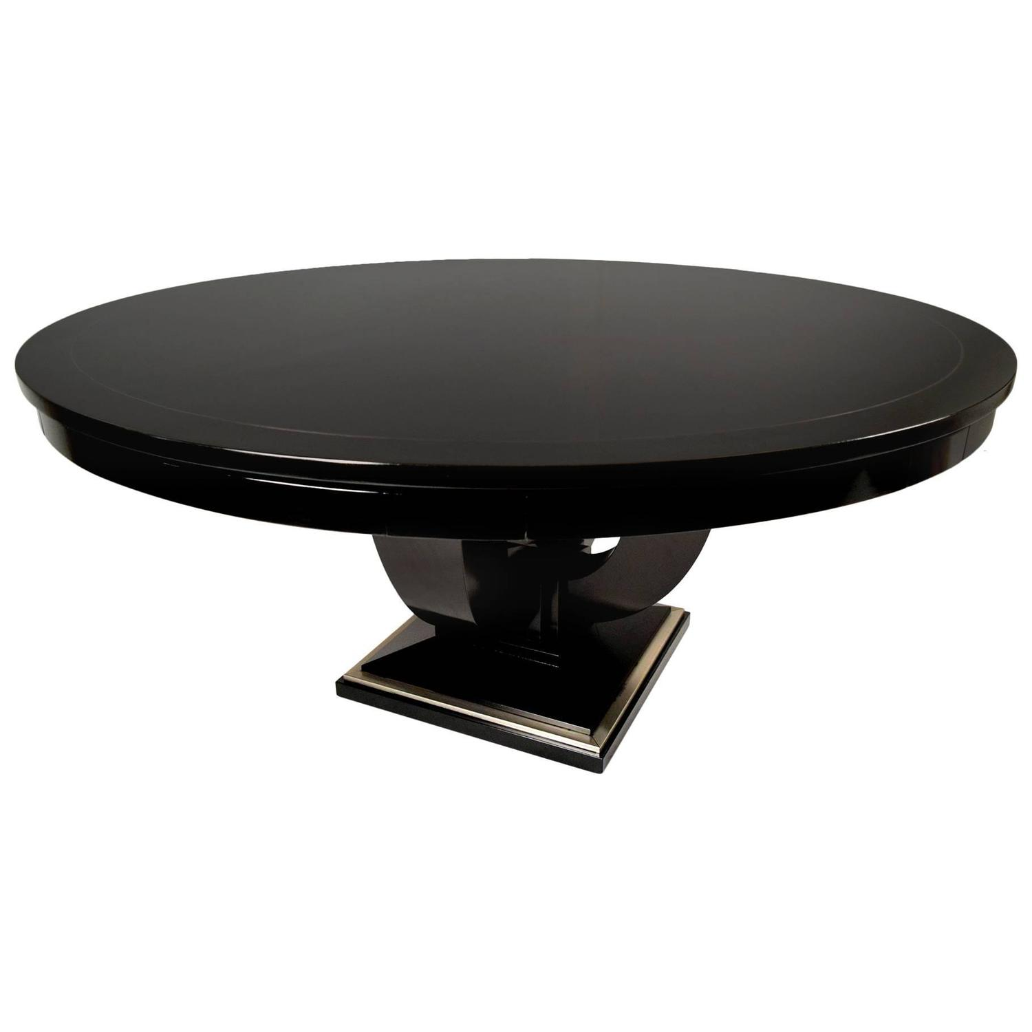 round card table and chairs purple velvet chair uk vintage baker ebonized for sale at 1stdibs