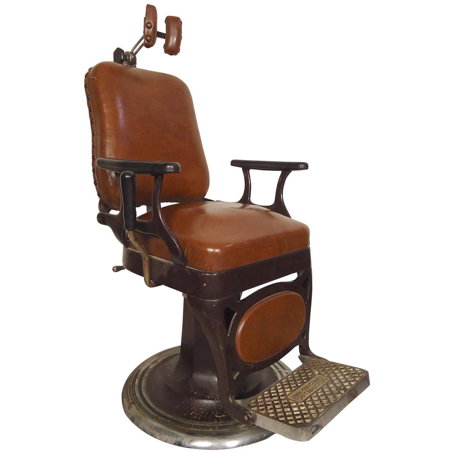 Antique Barber Chair For Sale Vintage Barber Style Chair For Sale At 1stdibs