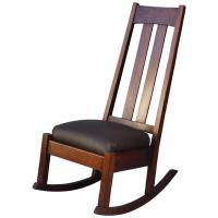 1910 Arts and Crafts High Back Rocking Chair at 1stdibs