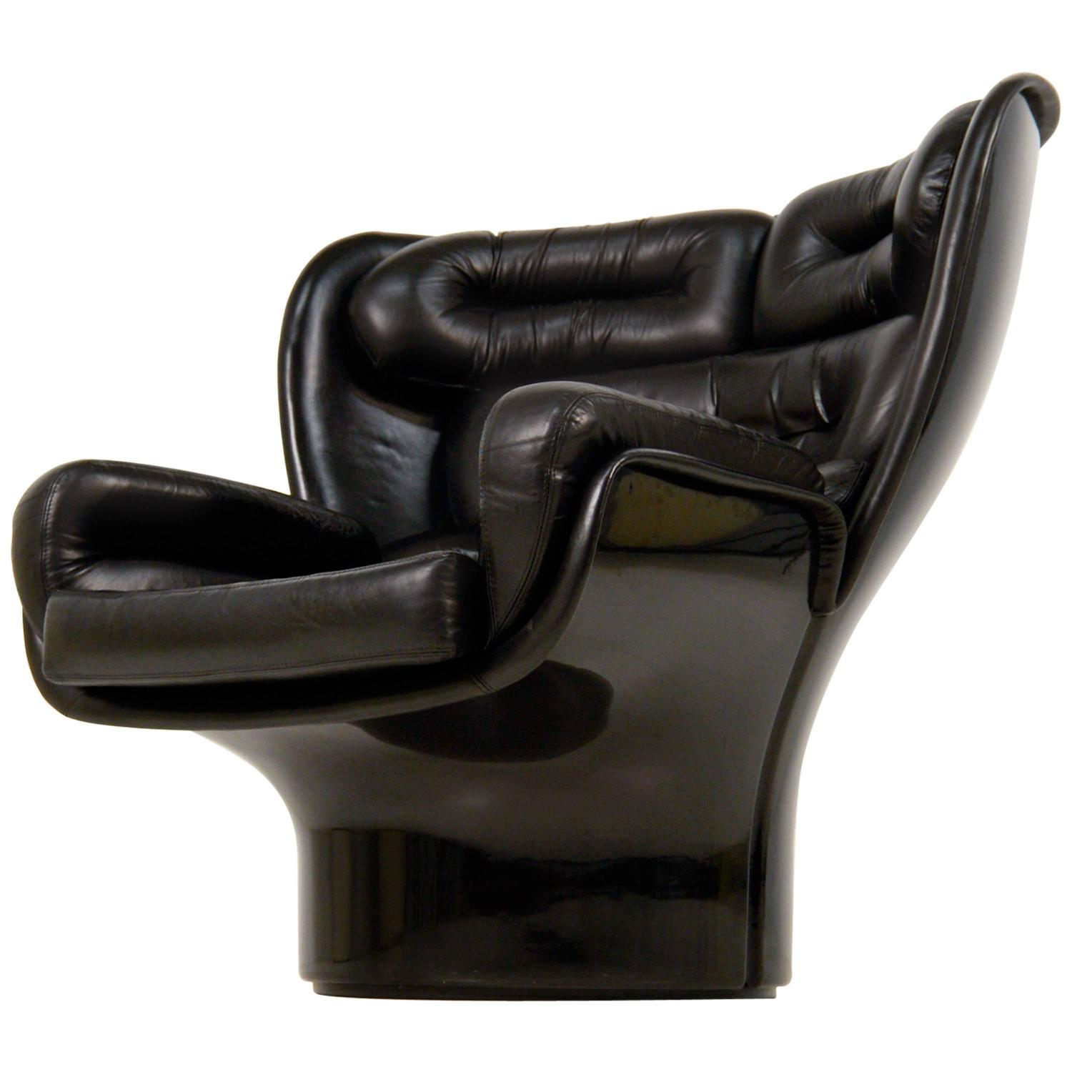 Cool Lounge Chairs Cool All Black Elda Lounge Chair By Joe Colombo Comfort