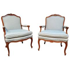 Bergere Chairs For Sale Swivel Chair Rocker Pair Of Louis Xv Style Lounge At