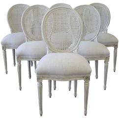 Cane Back Dining Chair Ball Desk Louis Xvi Style Chairs At 1stdibs