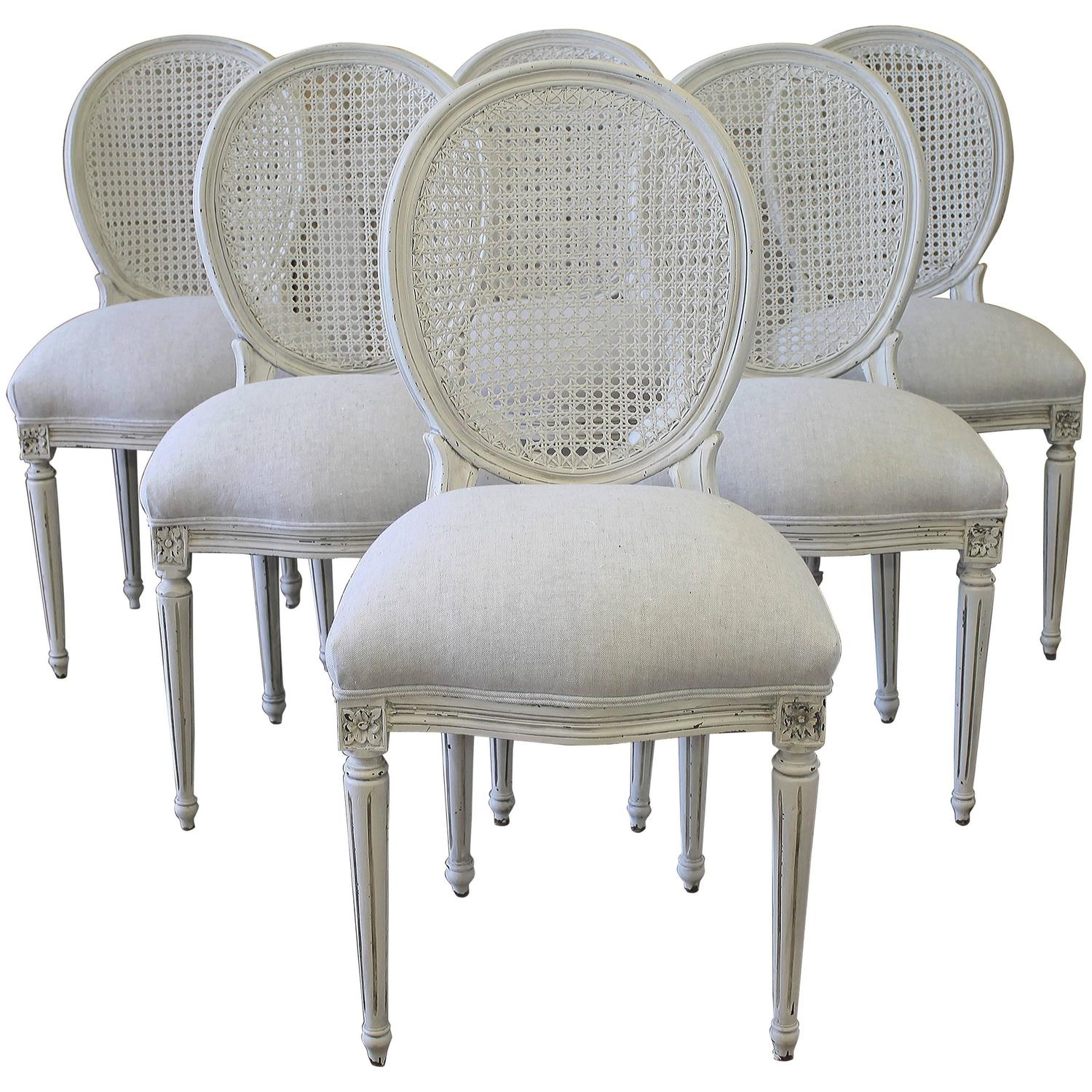 Cane Dining Chairs Louis Xvi Style Cane Back Dining Chairs At 1stdibs