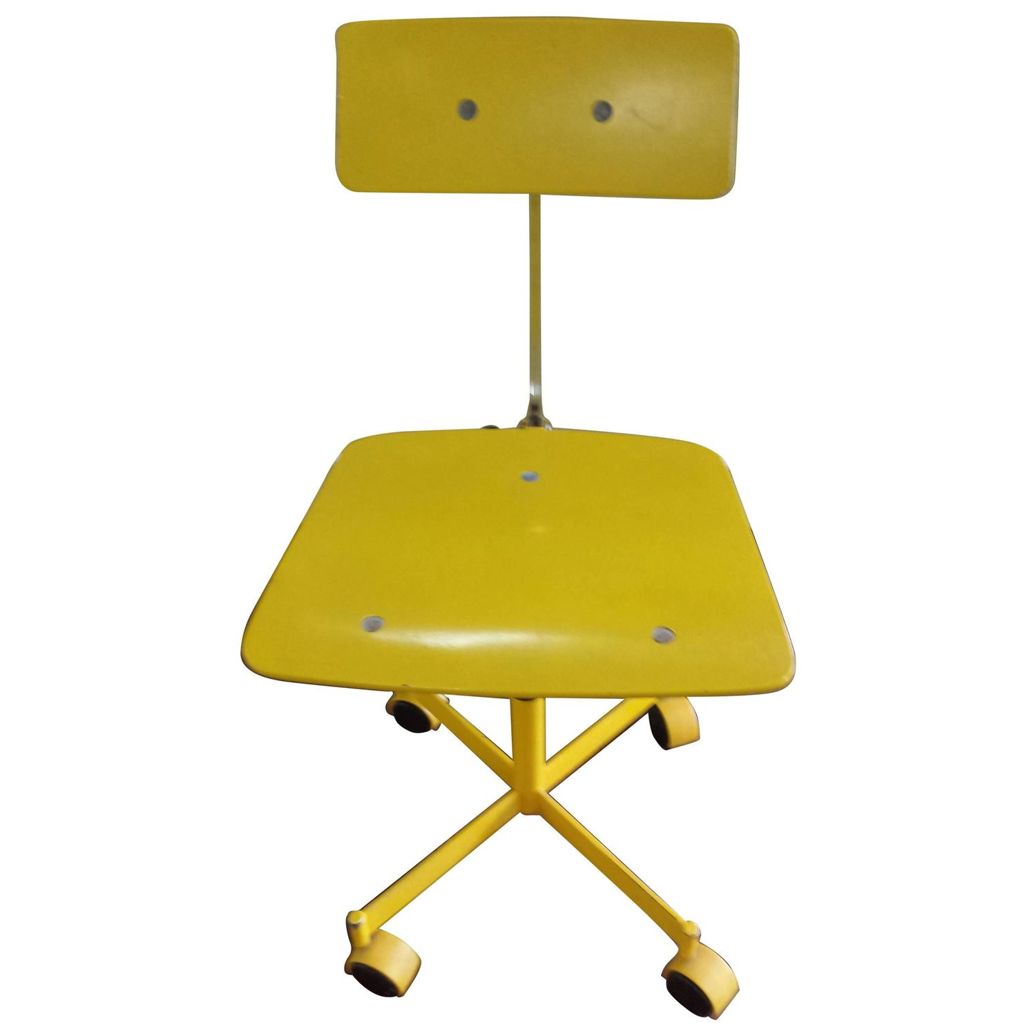 yellow office chair modern leather swivel desk brilliant kevi armless fully adjustable