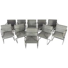 Set of Ettore Sottsass Memphis Armchairs for Knoll at 1stdibs