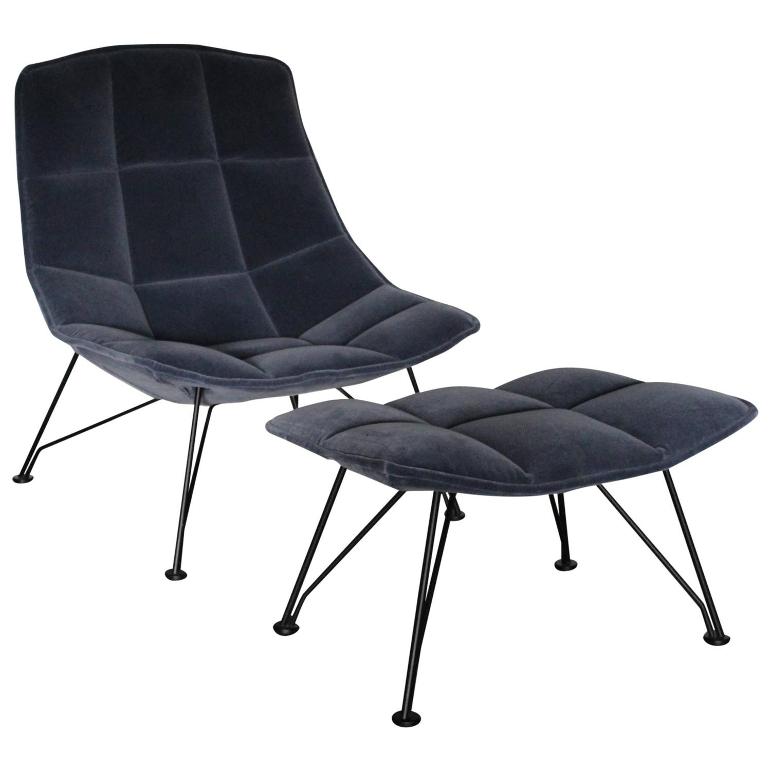 jehs laub lounge chair recliner lift chairs costco knoll studio quotjehs 43 quot and ottoman in